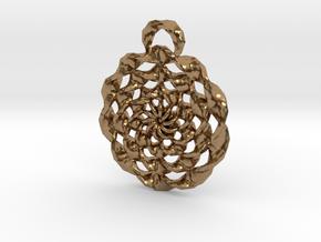 TwistedRings in Natural Brass