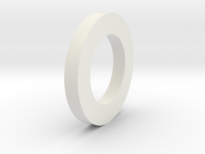 "2.00"" to 29mm Centering Ring in White Natural Versatile Plastic"