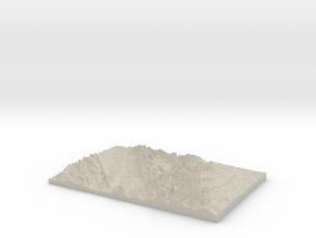 Model of Camas Lake in Natural Sandstone
