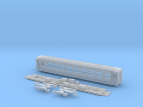 Passenger car type B-1L w/bogie in Smooth Fine Detail Plastic