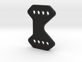 2616-1 - REAR WING MOUNT 3D WEDGE in Black Natural Versatile Plastic