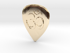Ohm Guitar Pick in 14K Yellow Gold