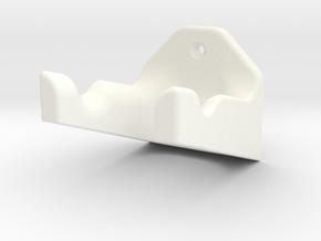 Guitar Wall Hanger in White Processed Versatile Plastic