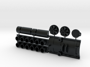 Sealab and other parts for Y-wing  in Black Hi-Def Acrylate