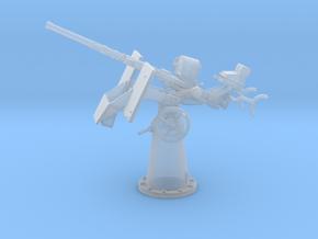 1/96 USN 20mm Oerlikon Mk4 w/ MK14 Gun Sight Eleva in Smoothest Fine Detail Plastic