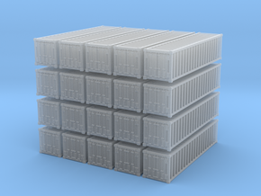 1:400_40' Container [x20][A] in Smooth Fine Detail Plastic