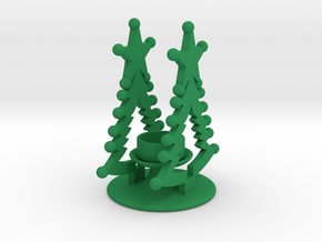 Christmas Theelight Holder 3 in Green Processed Versatile Plastic
