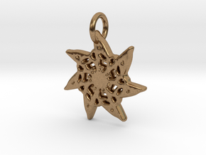 Seven-Pointed Snowflake in Natural Brass