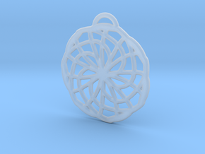 Labyrinth Pendant - Medium in Smooth Fine Detail Plastic