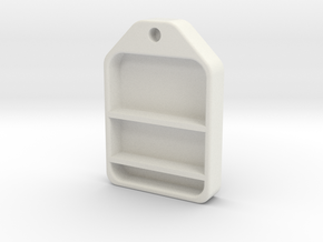 70'S WINNEBAGO SHOWER SHELF in White Natural Versatile Plastic: 1:10