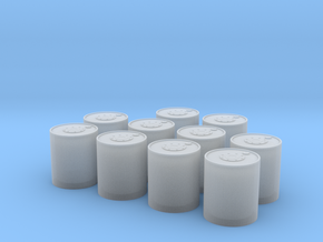 1/72 Depth Charges for Release Track Mk 9 Mod 2  in Smooth Fine Detail Plastic