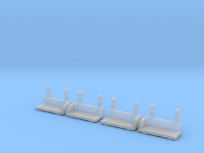 1/64 S-scale Whitcomb 65 Ton Loco Footboards in Frosted Ultra Detail