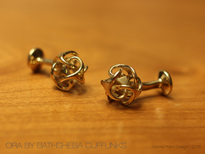 Ora by Bathsheba Cufflinks in Polished Brass