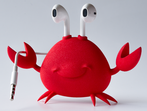 Apple EarPod Crab Holder in Red Processed Versatile Plastic