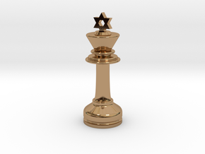 MILOSAURUS Chess MINI Star of David King in Polished Brass