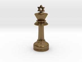 MILOSAURUS Chess MINI Star of David King in Polished Bronze