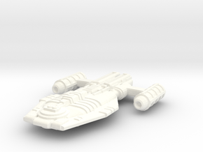 Malkorian Starship (Type 4X-7) in White Strong & Flexible Polished
