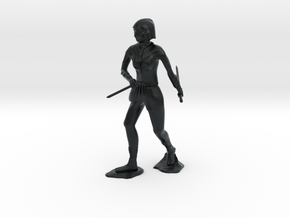 Female Ninja in Black Hi-Def Acrylate