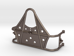 Scx10 Tire Carrier 1.9 tire  in Polished Bronzed Silver Steel