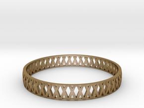 Crossed Bracelet  in Polished Gold Steel