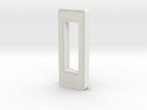 Plain Style VU Barmeter Pinball Case in White Natural Versatile Plastic