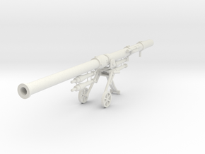 Panzerschreck-Kanone PzK 10.5 with 4 Shells, 1/6 in White Natural Versatile Plastic