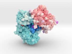 Structure of PCDK2/CYCLINA bound to ADP and 1 MAGN in Glossy Full Color Sandstone