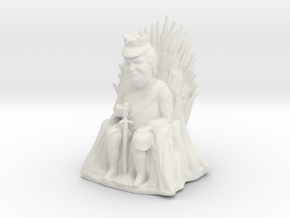 Trump as Game of Thrones Character With Sword in White Natural Versatile Plastic: Medium