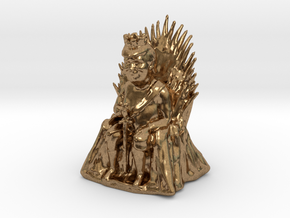 Trump as Game of Thrones Character With Sword in Natural Brass: Medium
