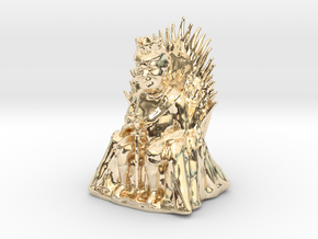 Trump as Game of Thrones Character With Sword in 14k Gold Plated Brass: Medium