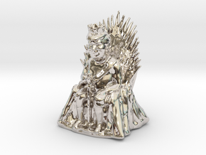 Trump as Game of Thrones Character With Sword in Rhodium Plated Brass: Medium