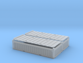 """2x 20 ft """"Half Height"""" Container in Smooth Fine Detail Plastic"""