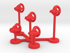 Colour Slipstreamer Space Interceptor Wing in Red Processed Versatile Plastic
