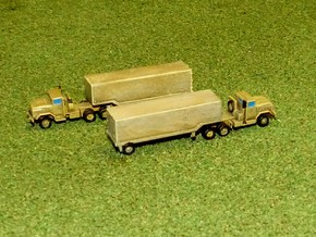 US M932 Semi-Truck w. M1032 / M 373 Trailer 1/285 in Smooth Fine Detail Plastic