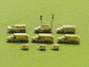 MIM-104 Missile Battery Trucks 1/285 in Smooth Fine Detail Plastic