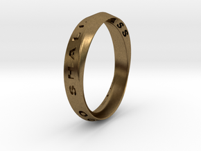 This Too Shall Pass Ring mobius ring v1 in Natural Bronze