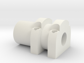 Front Hydro Ram 1 in White Natural Versatile Plastic