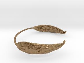 Leaf Wrist Cuff in Natural Brass