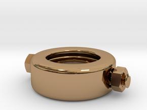 Frankenstein Ring in Polished Brass (Interlocking Parts)
