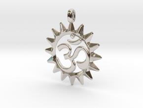 OM Symbol Jewelry Pendant in Platinum