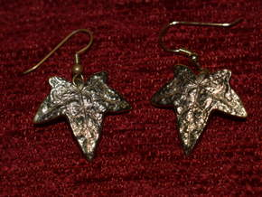 Ivy Leaf Earrings (pair) in 18K Gold Plated