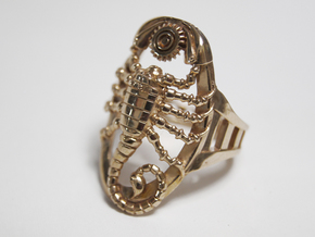 Mech Scorpion Ring Size 10 in Natural Brass