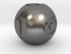 Sphere Dice in Polished Nickel Steel