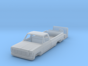 1/87 1976 Chevy K10 Pick up with interior in Smooth Fine Detail Plastic