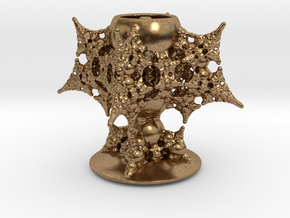 Holy Grail Fractal Miniature in Natural Brass