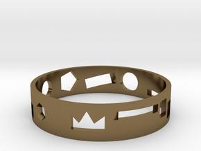 Geometric ring in Polished Bronze: Medium