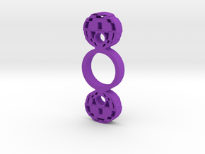 Death Star Spinner in Purple Processed Versatile Plastic