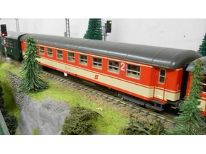 #16A - 51 81 29-40 124 Wagenkasten in Smooth Fine Detail Plastic