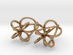 Finials - Pair of Earrings in Metal in Polished Brass