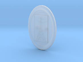 Oval Eiffel Tower Button in Smooth Fine Detail Plastic